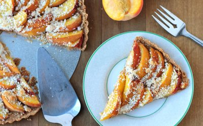 Baked Peach Tart (Vegan + GF)