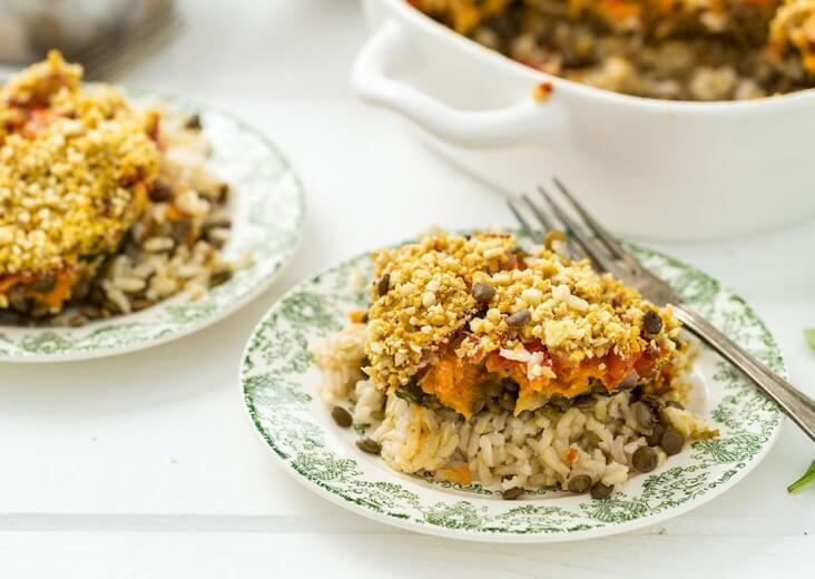Rice Casserole with Lentils