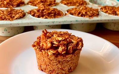 Spiced Pumpkin Oat Muffins